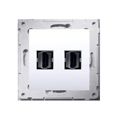 Gniazdo HDMI podwójne biały