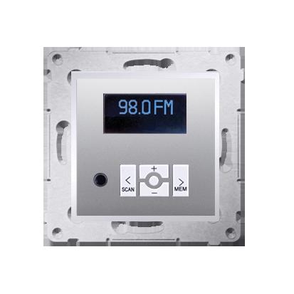 Radio cyfrowe z wyświetlaczem srebrny mat, metalizowany
