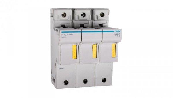 Rozłącznik bezpiecznikowy cylindryczny 3P 14x51mm LR603