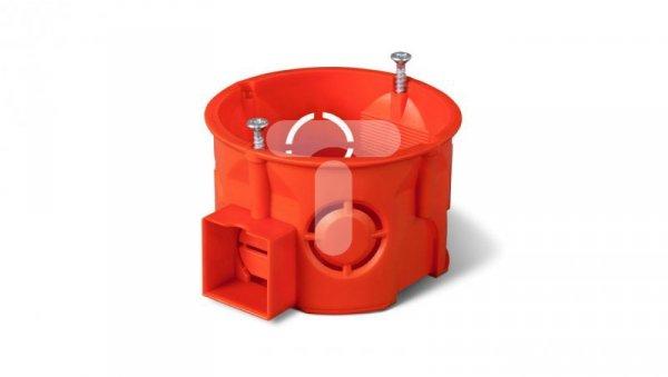 Puszka podtynkowa 60mm łączeniowa płytka z wkrętami czerwona PK-60 PRO 0284-01 /90szt/
