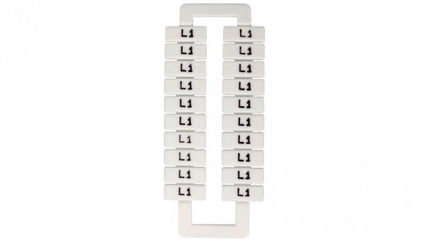 Oznacznik do złączek szynowych 2,5-70mm2 /L1/ biały 43192 (20szt.)