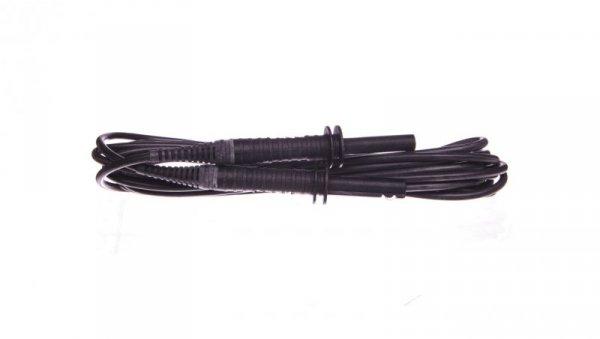 Przewód pomiarowy 5m czarny ekranowany 5kV /wtyki bananowe/ WAPRZ005BLBBE5K