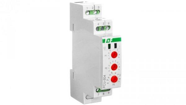 Przekaźnik czasowy z podtrzymaniem po zaniku zasilania 12-264V AC/DC styk 2P 8A 1 moduł PCU-504UNI