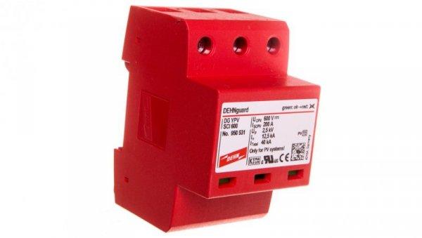 Ogranicznik przepięć C Typ 2 PV 600V DC 3P 12,5kA 2,5kV DEHNguard compact YPV SCI 600 950531