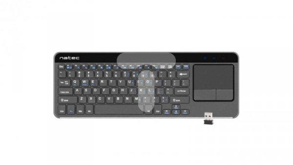 Klawiatura z touch padem do smart TV NATEC TURBOT, slim, beprzewodowa 2.4GHZ, X-SCISSORS NKL-0968
