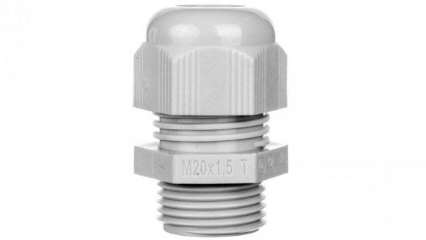 Dławnica kablowa poliamidowa M20 IP68 HELUTOP HT-M20 jasnoszara 93910