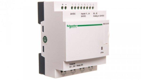 Moduł ZELIO LOGIC 8wejścia cyfrowe 4 wyjścia analogowe 240VAC RTC SR2E121BD