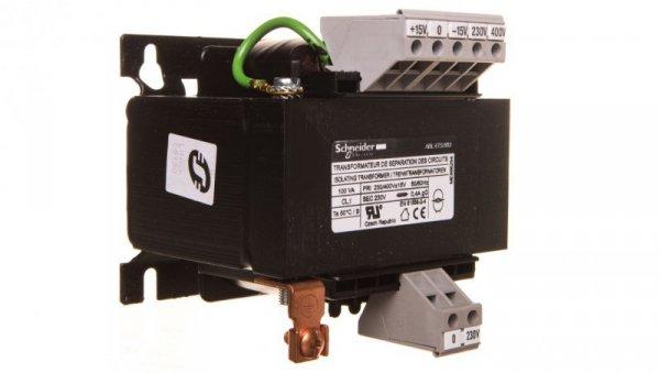 Transformator 1-fazowy 100VA 230(400)V/230V ABL6TS10U