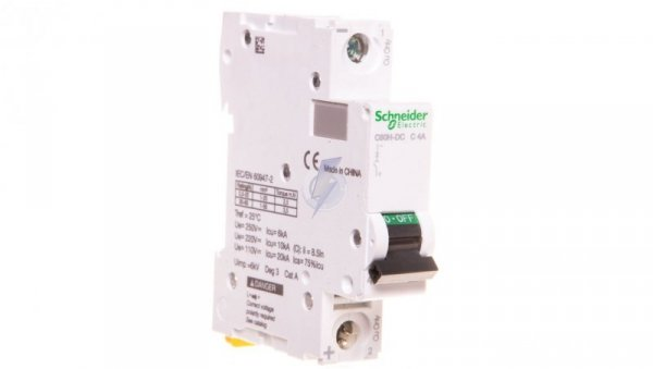 Wyłącznik nadprądowy 1P C 4A 10kA DC C60H-DC-C4 A9N61504