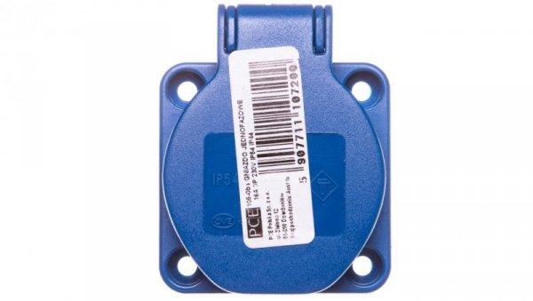 Gniazdo tablicowe 10/16A 2P+Z SCHUKO 230V niebieskie IP54 105-0bs