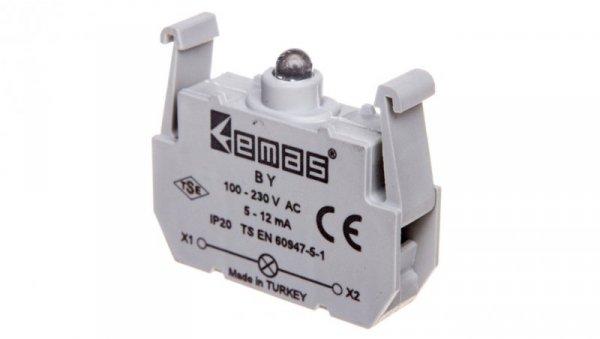 Element podświetlający zielony 100-230V AC do przycisków B LEDT0-BY