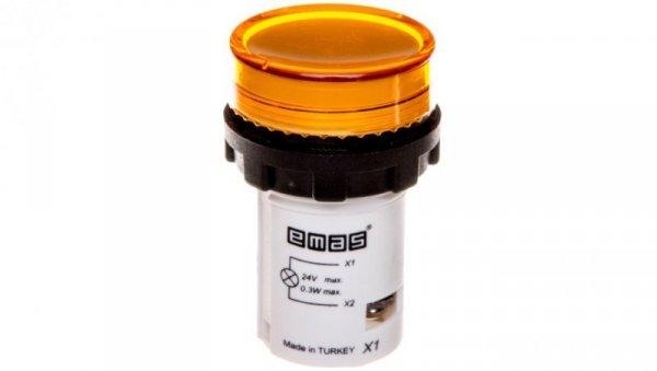 Lampka sygnalizacyjna 24V żółta T0-MBSD024S