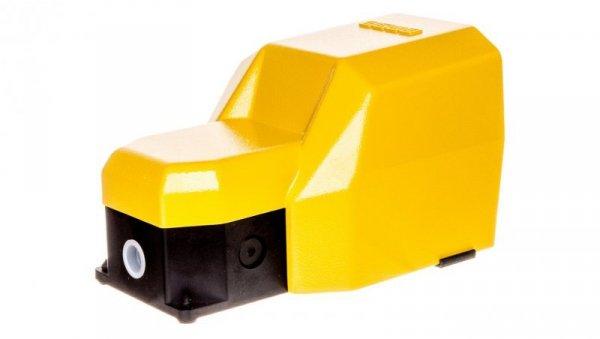 Wyłącznik nożny pojedynczy z osłoną żółty metal 2Z 2R 2 kroki T0-PDKS11GX20