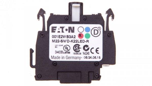 Styk pomocniczy 2P z diodą LED czerwoną montaż czołowy SmartWire-DT 115981