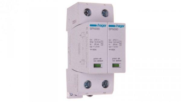 Ogranicznik przepięć B+C Typ 1+2 2P 12,5kA 275V 1,5kV ze stykiem sygnalizacyjnym SPN921R