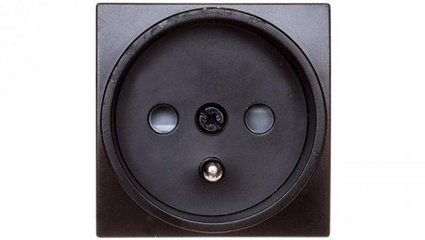 Systo Gniazdo pojedyncze z/u 16A 2 moduły czarny 16A/250V WS100N