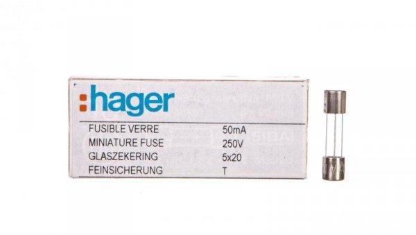 Wkładka aparatowa 5x20mm T 250V 0,05A L520TK00-050 /10szt./