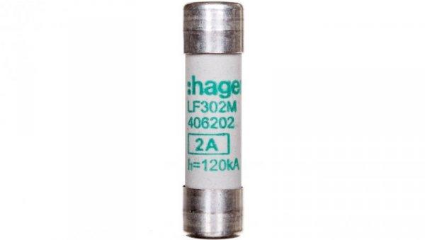 Wkładka topikowa cylindryczna 10x38 mm aM 2A 500V AC LF302M /5szt./