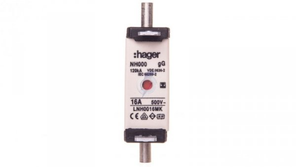 Wkładka bezpiecznikowa NH000 16A gG 500V WT-000 LNH0016MK