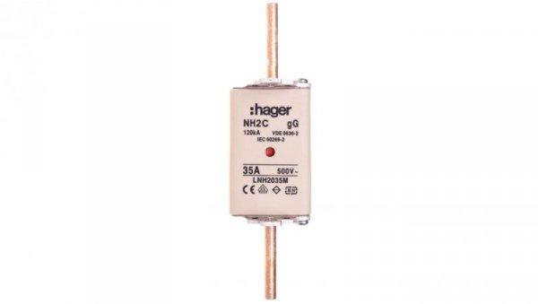 Wkładka bezpiecznikowa NH2C 35A 500V gG LNH2035M