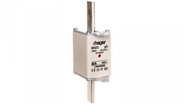 Wkładka bezpiecznikowa NH2C 80A 500V LNH2080M