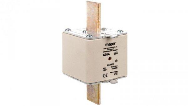 Wkładka bezpiecznikowa NH3 630A 500V gG LNH3630M
