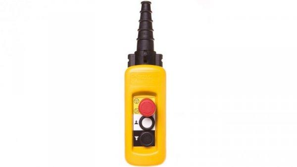 Kaseta sterownicza wisząca XAC-A, 2 przyciski 1 awaryjnego zatrzymania XACA2913
