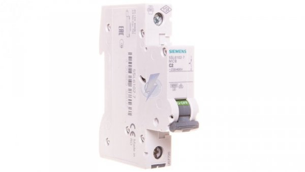 Wyłącznik nadprądowy 1P C 2A 6kA AC 5SL6102-7