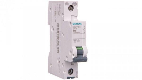 Wyłącznik nadprądowy 1P B 40A 6kA AC 5SL6140-6