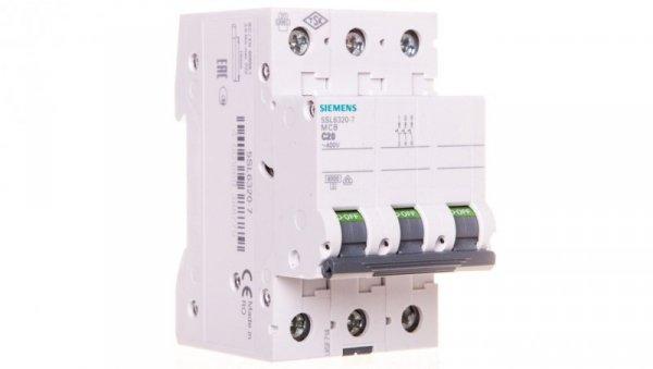 Wyłącznik nadprądowy 3P C 20A 6kA AC 5SL6320-7