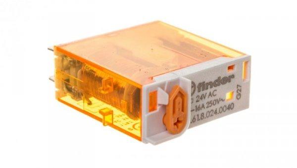 Przekaźnik miniaturowy 1P 16A 24V AC 46.61.8.024.0040