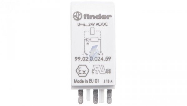 Moduł sygnalizacyjny LED zielony 6-24V AC/DC  99.02.0.024.59