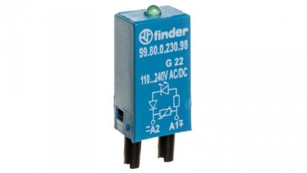 Moduł sygnalizacyjny LED zielony + warystor 110-240V AC/DC 99.80.0.230.98