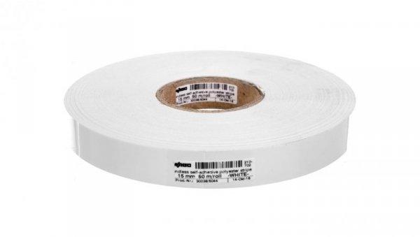 Paski oznacznikowe samoprzylepne szerokość 15mm białe 50m / rolka 210-702