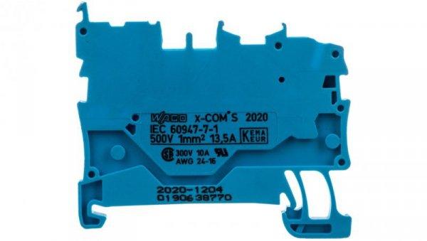 Złaczka bazowa X-COMS 1-prz./ 1 pin niebieska 2020-1204