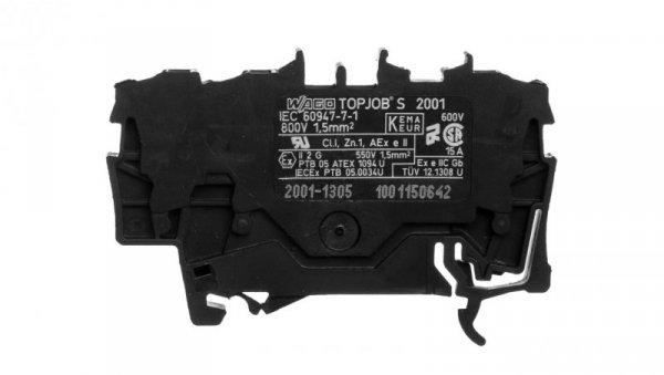 Złączka szynowa 3-przewodowa 1,5mm2 czarna TOPJOBS 2001-1305