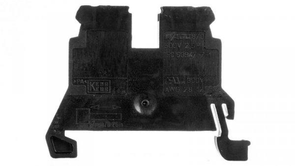 Złączka 2-przewodowa 2,5mm2 czarna 870-905