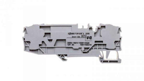Złączka 2-przewodowa 6mm2 bezpiecznikowa szara TOPJOBS 2006-1681/1000-429 /25szt./
