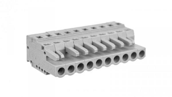 Gniazdo MCS-MIDI Classic 10-biegunowe szare raster 5mm 231-110/102-000