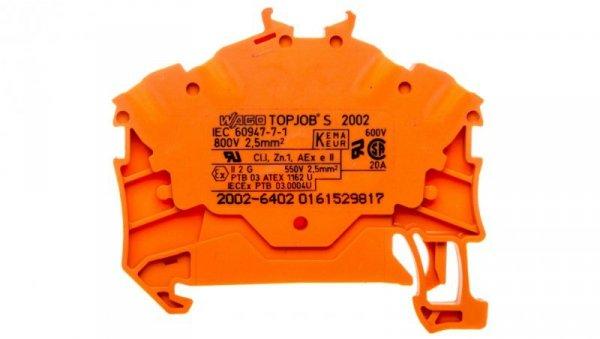 Złączka 4-przewodowa 2,5mm2 pomarańczowa TOPJOBS 2002-6402