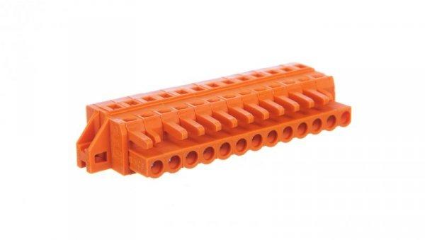 Gniazdo MCS-MIDI Classic 13-biegunowe pomarańczowe raster 5,08mm 231-313/031-000 /25szt./