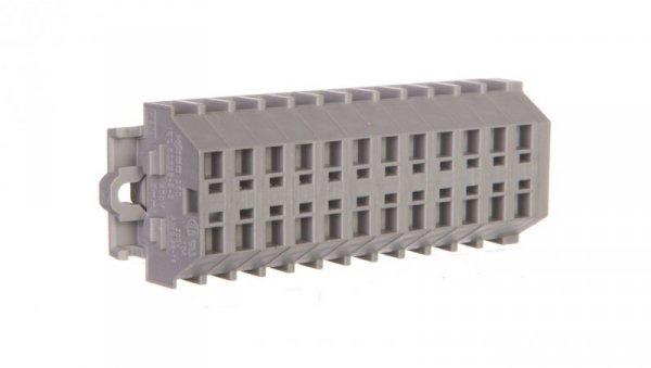 Listwa zaciskowa 2-przewodowa 1,5mm2 12-torowa szara mocowanie śrubowe 260-112