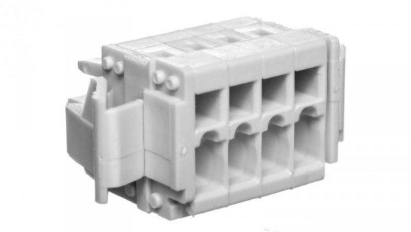 Gniazdo MCS-MINI Classic 4-biegunowe jasnoszare raster 3,5mm 734-104/037-000