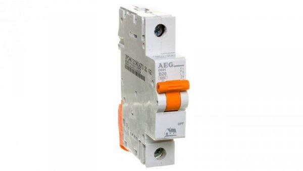 Wyłącznik nadprądowy 1P B 20A 6kA AC DE91B20 690806