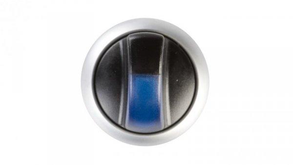 Napęd przełącznika 3 położeniowy niebieski z podświetleniem bez samopowrotu M22-WRLK3-B 216851