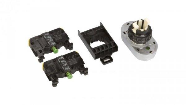 Przycisk sterowniczy 22mm podwójny czerwony/zielony z samopowrotem 2Z ST22-2KL-20Z/C