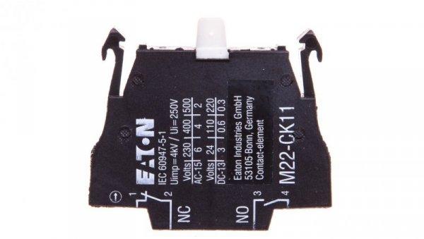 Styk pomocniczy 1Z 1R montaż czołowy M22-CK11 107940