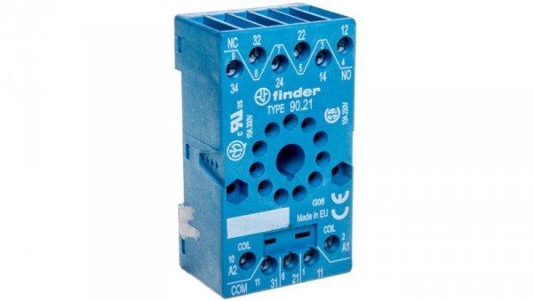Gniazdo przekaźnika z zaciskami śrubowymi (zacisk koszyczkowy)montaż na panel lub szynę DIN 35  do 60.13 88.02 90.21 SMA