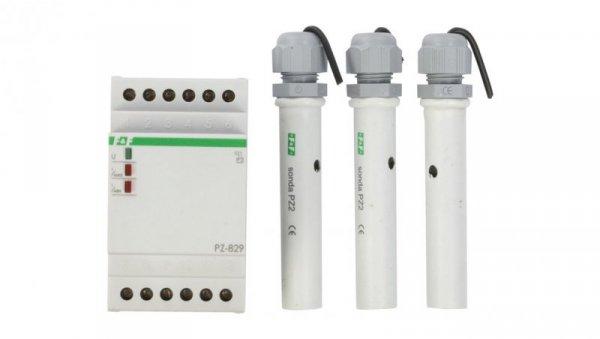 Przekaźnik kontroli poziomu cieczy 16A 2P 1-100kOhm PZ-829