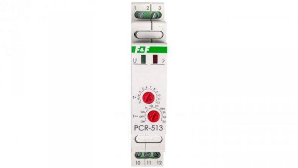 Przekaźnik czasowy 1P 10A 0,1sek-576h 12-264V AC/DC opóźnione załączenie PCR-513UNI